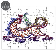 Fancy Medieval Neon Dragon Puzzle