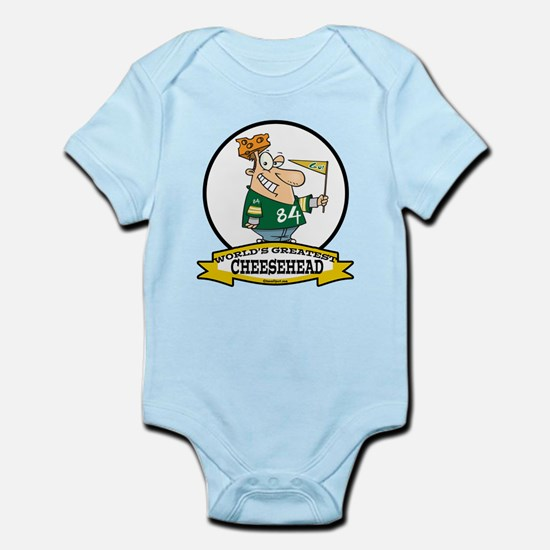 WORLDS GREATEST CHEESEHEAD Infant Bodysuit