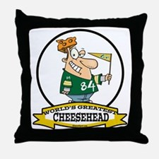 WORLDS GREATEST CHEESEHEAD Throw Pillow