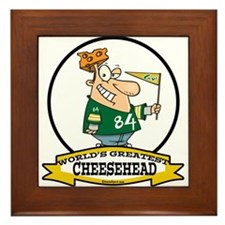 WORLDS GREATEST CHEESEHEAD Framed Tile