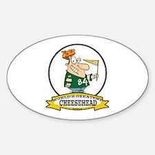 WORLDS GREATEST CHEESEHEAD Sticker (Oval)