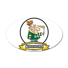WORLDS GREATEST CHEESEHEAD 22x14 Oval Wall Peel