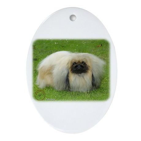 Pekingese 9W010D-040 Ornament (Oval)