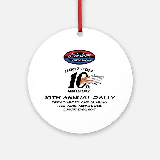 CGOAMN 10TH Anniversary Round Ornament