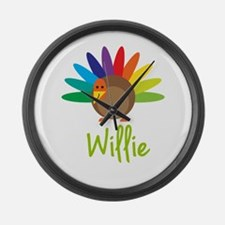 Willie the Turkey Large Wall Clock