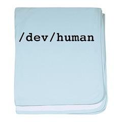 /dev/human baby blanket