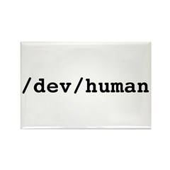 /dev/human Rectangle Magnet (10 pack)