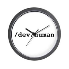 /dev/human Wall Clock