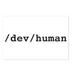 /dev/human Postcards (Package of 8)