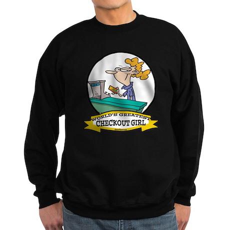 WORLDS GREATEST CHECKOUT GIRL Sweatshirt (dark)