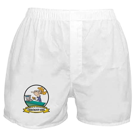 WORLDS GREATEST CHECKOUT GIRL Boxer Shorts