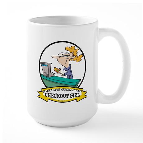 WORLDS GREATEST CHECKOUT GIRL Large Mug