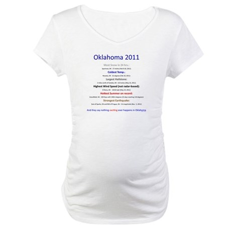 Nothing Happens in Oklahoma Maternity T-Shirt