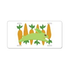 Gwennie With Carrots Aluminum License Plate