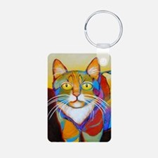 Cat-of-Many-Colors Aluminum Photo Keychain
