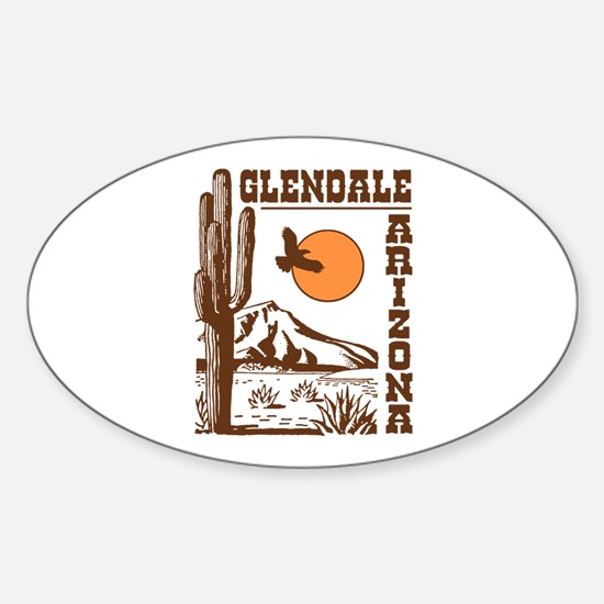 Glendale Arizona Sticker (Oval)