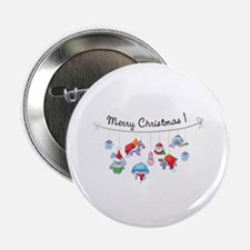 "Merry Christmas bunnies 2.25"" Button (100 pack)"