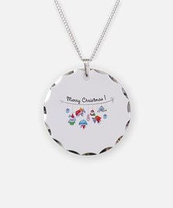 Merry Christmas bunnies Necklace