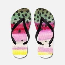 Rainbow Trout Skin Fishing Flip Flops