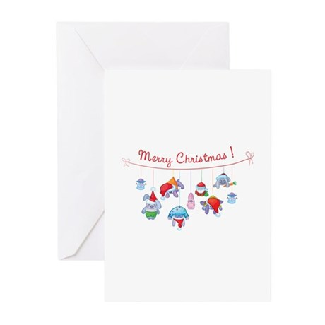 Merry Christmas bunnies Greeting Cards (Pk of 20)