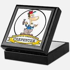 WORLDS GREATEST CARPENTER Keepsake Box
