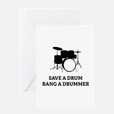 Save a Drum Greeting Card