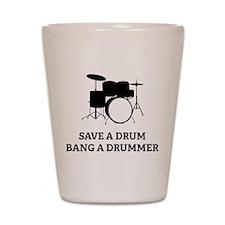 Save a Drum Shot Glass