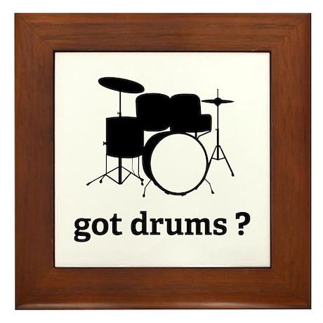 got drums ? Framed Tile