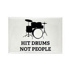 Hit Drums Not People Rectangle Magnet