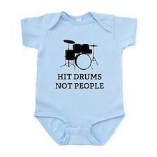 Hit Drums Not People Onesie