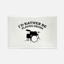 Playing Drums Rectangle Magnet