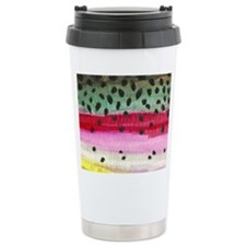 Rainbow Trout Skin Fishing Travel Mug