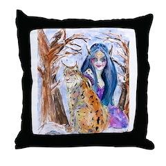 Lynx Fae Throw Pillow