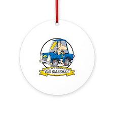 WORLDS GREATEST CAR SALESMAN MEN Ornament (Round)