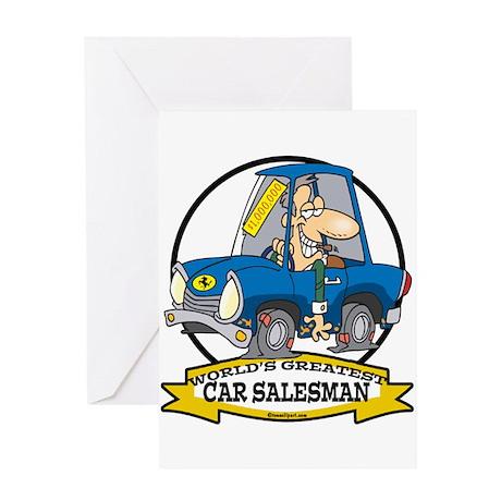 WORLDS GREATEST CAR SALESMAN MEN Greeting Card