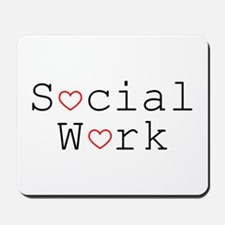 Social Work Hearts Mousepad
