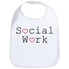 Social Work Hearts Bib