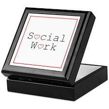 Social Work Hearts Keepsake Box