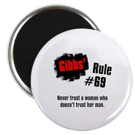 """NCIS Gibbs' Rules #69 2.25"""" Magnet (10 pack)"""