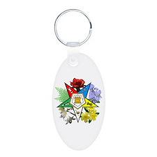 Eastern Star Floral Emblems Keychains
