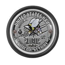 USN Seabees Utilitiesman UT Large Wall Clock