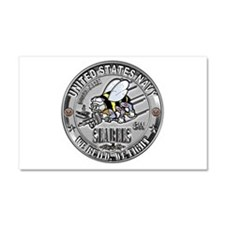 USN Seabees Steelworker SW Car Magnet 20 x 12