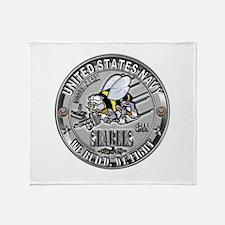 USN Seabees Steelworker SW Throw Blanket