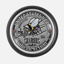 USN Seabees Steelworker SW Large Wall Clock
