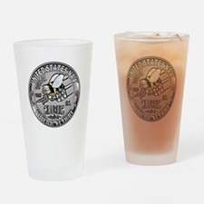 USN Seabees Equipment Operato Drinking Glass