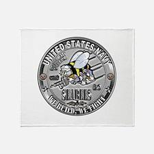 USN Seabees Equipment Operato Throw Blanket