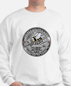 USN Seabees Construction Mech Sweatshirt