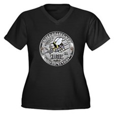 USN Seabees Construction Mech Women's Plus Size V-