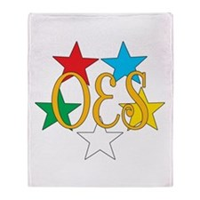 OES Circle of Stars Throw Blanket