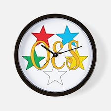 OES Circle of Stars Wall Clock